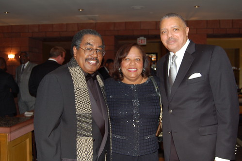 "BBA President Earl ""Skip"" Cooper II, owners of Johnson Products, Renee Cottrell-Brown and Eric Brown, in town to accept their Business of the Year Award, at the beautiful Omni Hotel.Photo by Isidra Person-Lynn"