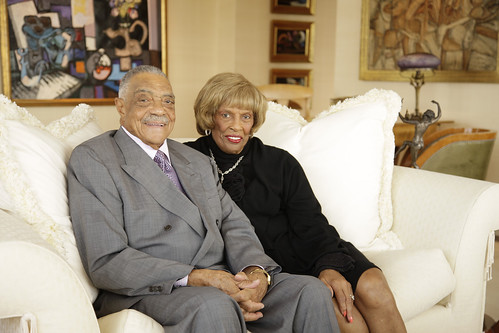 Behind every great man:  Mrs. George E. Johnson , Sr. and Mrs. Joan Johnson.